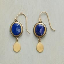 Our Ananda Khalsa lapis and gold earrings are the quintessence of sumptuous contrast.