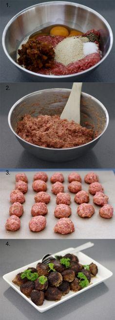 Lihapullat, meatballs in Finland.