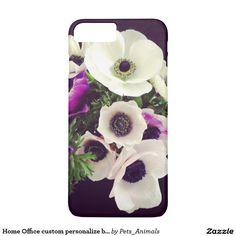 Home Office custom personalize business flowers iPhone 7 Plus Case