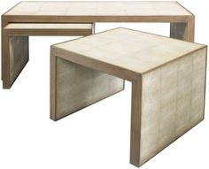 Avedon Nesting Tables| Lillian August. Available at magnolia. #coffee tables