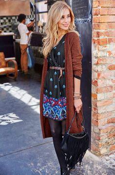 Aniston Chiffonkleid, bedruckt »Ausschnitt in Wickeloptik« im Online Shop von Ackermann Versand #Mode #Fashion #Herbst #Autumn Boho, Elegant, Fall, Outfits, Beauty, Blazer, En Vogue, Woman, New Fashion