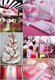 Japanese Cherry Blossom Wedding Theme for Spring #cherryblossom #wedding #theme - So freaking pretty!!!