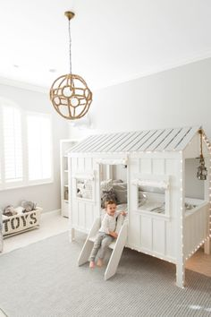 Brooks's Toddler Room with RH Baby & Child - Fashionable Hostess Fashionable Hostess Small Toddler Rooms, Cool Toddler Beds, Boy Toddler Bedroom, Boys Bedroom Decor, Baby Bedroom, Baby Room Decor, Girls Bedroom, Child Room, Toddler Cabin Bed