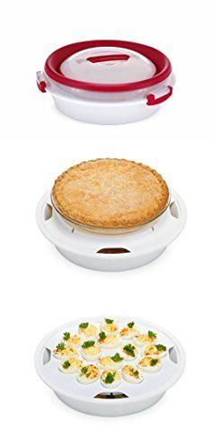 Two Pie Carrier. Prepworks by Progressive Collapsible Pie/Deviled Egg Carrier.  #two #pie #carrier #twopie #piecarrier