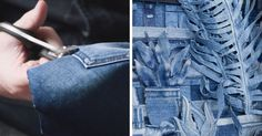 """This Artist """"Paints"""" With Denim 