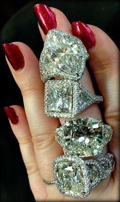 Diamond engagement rings by JB Star. ♥✤