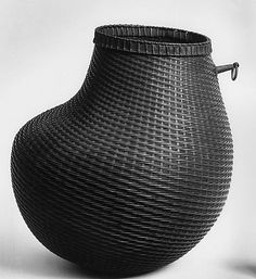 Gourd-Shaped Basket Date: 19th century Culture: Japan Medium: Bamboo Dimensions: H. 8 in. (20.3 cm); W. 7 1/2 in. (19.1 cm) Classification: Basketry Credit Line: Edward C. Moore Collection, Bequest of Edward C. Moore, 1891