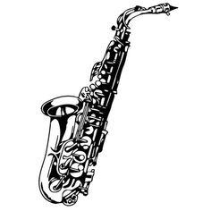 Saxophone Music Vinyl Wall Art (from Overstock.com)