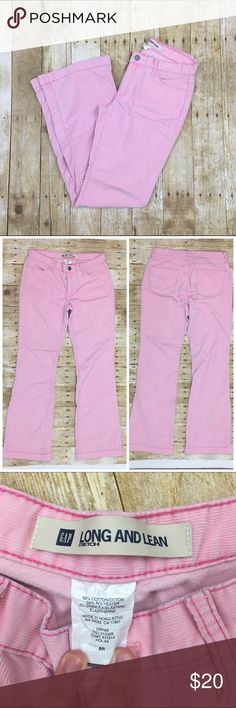 "Pink corduroys ""Long and lean"" style by gap super cute light pink cords perfect for fall and winter; light wear no stains or tears - offers welcome, bundle 2 or more items in my closet using the ""bundle"" feature and receive 15% off of your total purchase! Gap Pants Boot Cut & Flare"