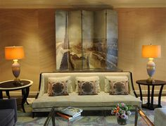 Jeffrey Brooks Interior Design, screen with painting
