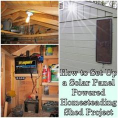 How to Set Up a Solar Panel Powered Homesteading Shed Project
