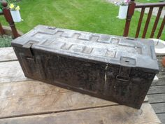 Large Metal Ammo Ammunition Box World War 2 dated 1942 in Original Condition - House / Office Industrial Storage #2 by VintageFoggy on Etsy