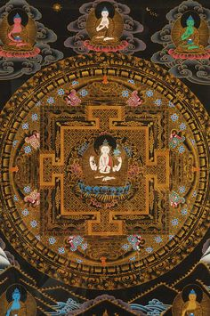 曼陀羅 - Mandala. A symbolic representation using visual and Buddha, symbols, characters, and the gods Zen sanctuary, the enlightenment of Buddha, Buddhism and in view of the world.