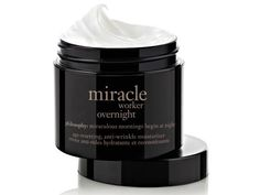 10 Best Night Creams For Every Budget: Philosophy Miracle Worker Overnight http://www.prevention.com/beauty/beauty/anti-aging-night-creams-fight-wrinkles?s=7&?cid=socBe_20141016_33738877