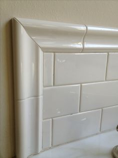 This Is My Tub Surround Three Tiles High But We Used A Thick Trim Bathroom