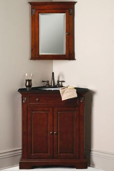 Not bad for my little 1/2 bath downstairs.  Corner vanities are very hard to find.