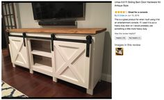 Ana White Grandy Sliding Door Console Diy Projects in dimensions 1600 X 1200 Barn Door Furniture Desk - For a consignment store, you will are looking for Diy Furniture Plans, Furniture Projects, System Furniture, Door Furniture, Farmhouse Furniture, Bedroom Furniture, Farmhouse Decor, Ana White, Diy Wood Projects