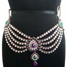 Gold Tone CZ Stone Designer Waist Belt Jewelry Wedding Kamar Bandh Jewellry Kamar Bandh, Wedding Jewelry, Women Jewelry, Belt, Traditional, Stone, Beautiful, Design, Fashion