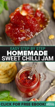 A wonderful homemade gift, this sweet chilli jam recipe is the Daddy of all savoury preserves! #jamrecipes #sweetchillijam #christmasgiftideas #homemadechristmasgifts