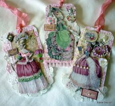 Marie tag set..for journal notes, or correspondence.