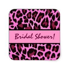 #Pink  #Black #Leopard #Party #Sticker http://www.zazzle.com/pink_and_black_leopard_party_sticker-217511068899341223