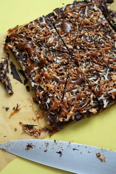 Samoas Bark - Blue-Eyed Bakers - Blue Eyed Bakers- have to try- maybe a good bunco treat