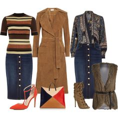A fashion look from September 2015 featuring River Island blouses, River Island sweaters and Frame Denim coats. Browse and shop related looks.