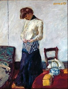 Pierre Bonnard-Woman undressing