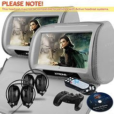 "Best price on XTRONS® Grey 2X Twin Car headrest DVD player 9"" HD Touch Screen with FM Game Disc Mp3 IR Headphones //   See details here: http://vehicleidea.com/product/xtrons-grey-2x-twin-car-headrest-dvd-player-9-hd-touch-screen-with-fm-game-disc-mp3-ir-headphones/ //  Truly a bargain for the inexpensive XTRONS® Grey 2X Twin Car headrest DVD player 9"" HD Touch Screen with FM Game Disc Mp3 IR Headphones //  Check out at this low cost item, read buyers' comments on XTRONS® Grey 2X Twin Car…"