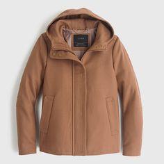 Wool melton hooded bib jacket : outerwear | J.Crew