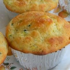 "Lemon Zucchini Muffins  I ""These are super moist and a nice change from regular zucchini bread."""