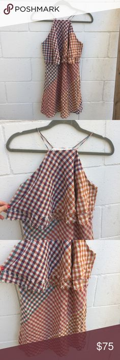 Zara Trafaluc Collection Farmer Picnic Dress Zara Trafaluc Collection Women's Colorful Spaghetti Strap Farmer Picnic Style Layered Ruffle Mini Dress. Size small. Worn a handful of times. A few small threads are pulled but in great condition! Zara Dresses Mini
