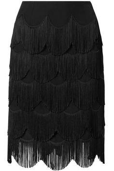 Marc Jacobs   Fringed crepe skirt   NET-A-PORTER.COM