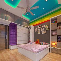 Indian Bedroom Design, Indian Bedroom Decor, Room Design Bedroom, Modern Bedroom Design, Indian Style Bedrooms, Girls Bedroom, Kids Bedroom Furniture Design, Bedroom Cupboard Designs, Kids Bedroom Designs