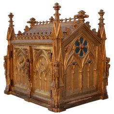 Gilded Miniature Gothic Cathedral box