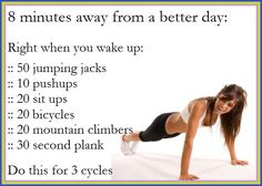 8 minutes to a better day!  A great blog for health, fitness and motivation.