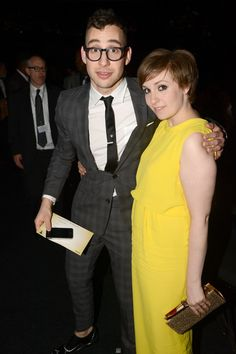 Musician Jack Antonoff of fun. and actress Lena Dunham