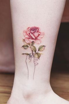 Rose Tattoos For Women, Pink Rose Tattoos, Tattoos For Women Half Sleeve, Dainty Tattoos, Tattoo Designs For Women, Mini Tattoos, Tattoos For Women Small, Unique Tattoos, Small Tattoos