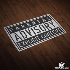 Autocollants Parental Advisory Explicit Content
