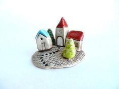 clay houses, ceramic houses, miniature house, tiny house, clay house,handmade ceramic house, pottery house, housewarming, small building