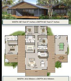 2 Bedroom House Plans, Dream House Plans, Modern House Plans, Small House Plans, House Floor Plans, Dream Houses, Sims 4 House Plans, Barn Homes Floor Plans, Modern Floor Plans