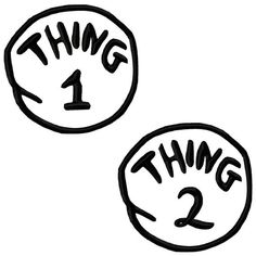 Thing 1 Thing 2 Iron on Patch