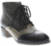 Spring Step Leather Lace-up Ankle Boots - Granola - A338131