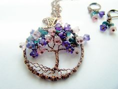 Bell Flower Tree of Life Necklace by CandiSuesCreations on Etsy, $47.00