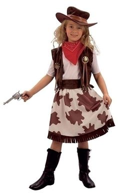 cowgirl cowprint skirt small childrens costumes female small 5