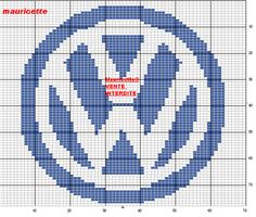 Xmas Cross Stitch, Cross Stitching, Cross Stitch Embroidery, Cross Stitch Patterns, Volkswagen, Needlepoint Patterns, Pixel Art, Vw Logo, Scrappy Quilts