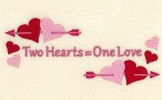 Two Hearts One Love - 5x7 | Wedding | Machine Embroidery Designs | SWAKembroidery.com Starbird Stock Designs
