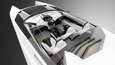 Reinvention V12 powerboat, future yacht, PROVOCOyachts design studio
