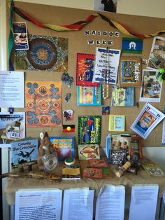 Hot Tots displays information for educators with NAIDOC week approaching.