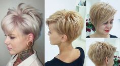"""Best Short Haircuts for Fine Hair: Stacked Pixie Haircut; pixiehaircut """"Your hair can become thinner aft Haircuts For Fine Hair, Short Pixie Haircuts, Pixie Hairstyles, Haircut Short, Short Asymetrical Haircuts, Easy Hairstyles, Ladies Hairstyles, Hairstyle Short, Hairstyles 2016"""